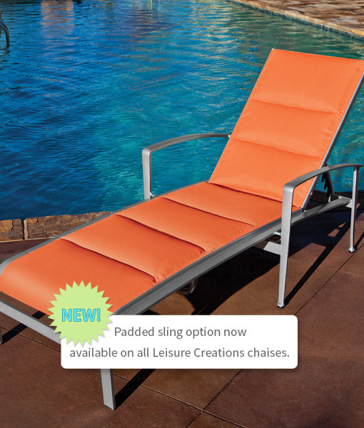 Metro Sling Chaise Lounge with Padded Option