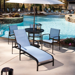 Metro Chaise Lounge and Dining Set