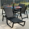 Skyline Sling Chaise and Dining Set