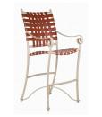Tuscan Villa Cross Weave Bar Chair
