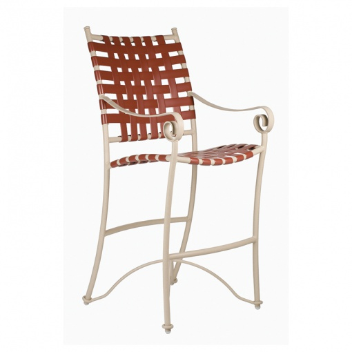 Tuscan Villa Cross Weave Bar Chair