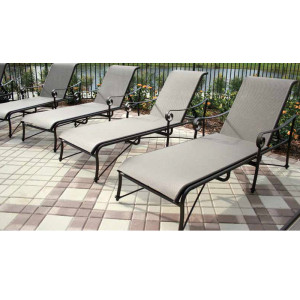 Tuscan Villa Sling Chaise Lounge Group