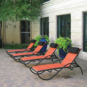 Velocity Sling Chaise Lounges