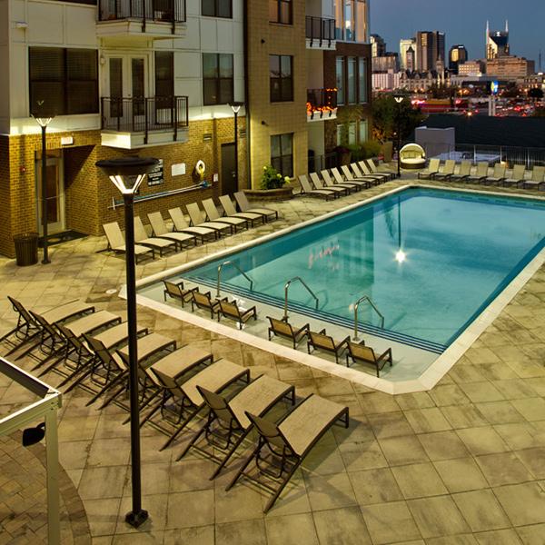 Urban Pointe Chaise Lounge Pool Furniture Resort Pool