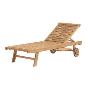 Premium Wood Chaise Lounge