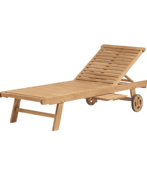 Premium Wood Chaise Lounge
