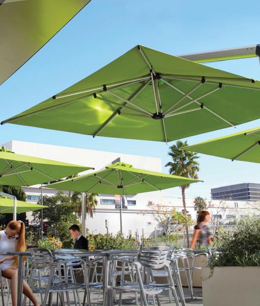 Green Cantilever Umbrellas
