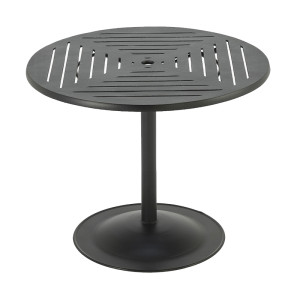Premium Table Top Slat Pattern with Bistro Pub Base