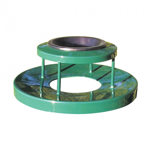 Receptacle Lids Green with Ash Receptacle