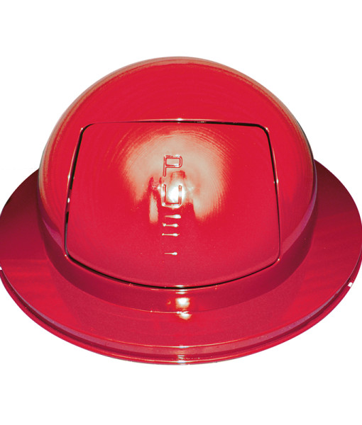 Receptacle Lids Red Covered