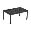 Slat Rectangle Premium Table Top with Coffee Table Frame