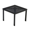 Slat Square Premium Table Top with Side Table Frame