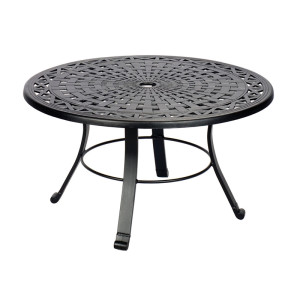 Universal Table Frame Cross Weave Pattern with Cast Feet
