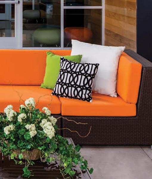 Right End Module Wicker Sofa