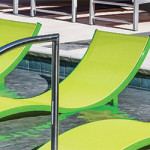 Aqua Sling Pool Chaise Lounges