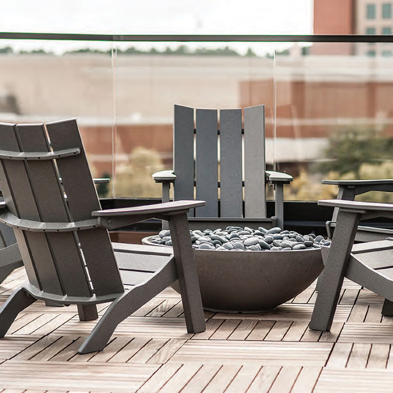 Commercial Resort Wood Adirondack Chair, Outdoor Patio Adirondack Chair