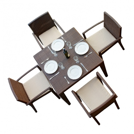 Cuatro Wicker Square Dining Set