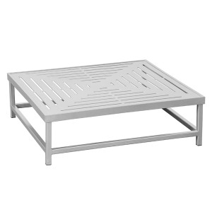 """34"""" Slat Square Premium Table Top with Coffee Table Frame"""
