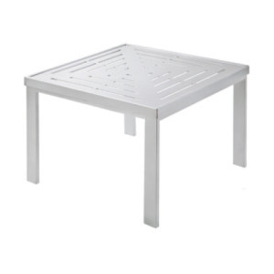 "24"" Slat Square Premium Table Top With Side Table Frame"