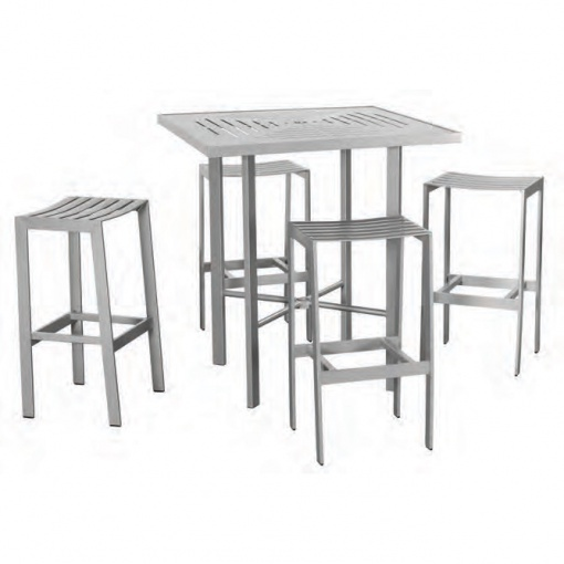 Bistro Skyline Slat Backless Bar Stool