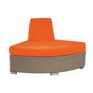 Ciró Wicker Ottoman with Back 6427