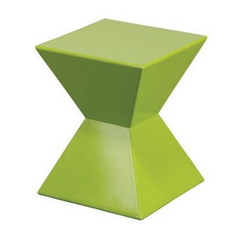Coastal Diamond Fiberglass Side Table - SP14GRN